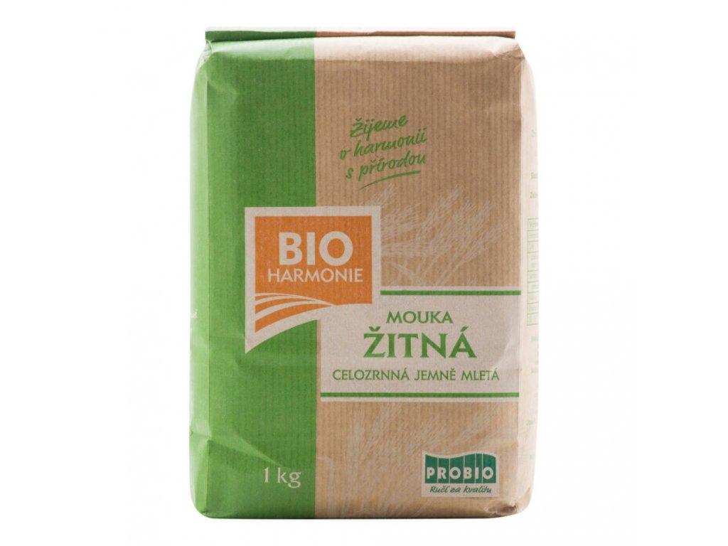 Mouka žitná celozrnná jemně mletá 1 kg BIO BIOHARMONIE
