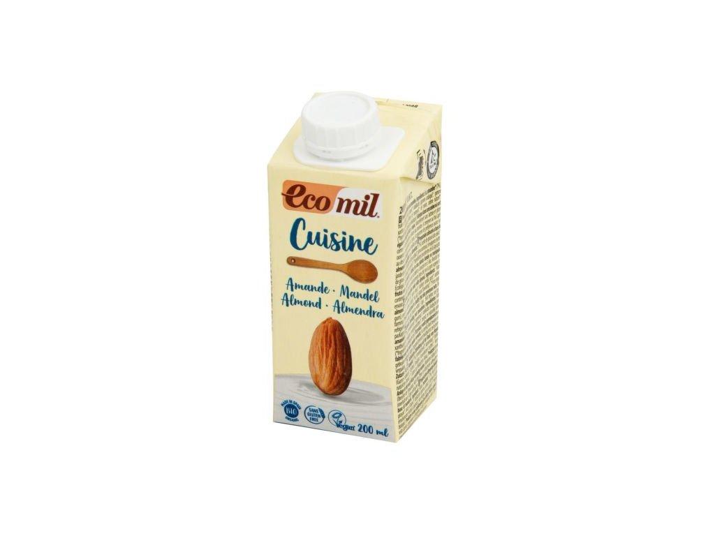 ECOMIL Mandlová alternativa smetany 8,5 % tuku BIO 200 ml