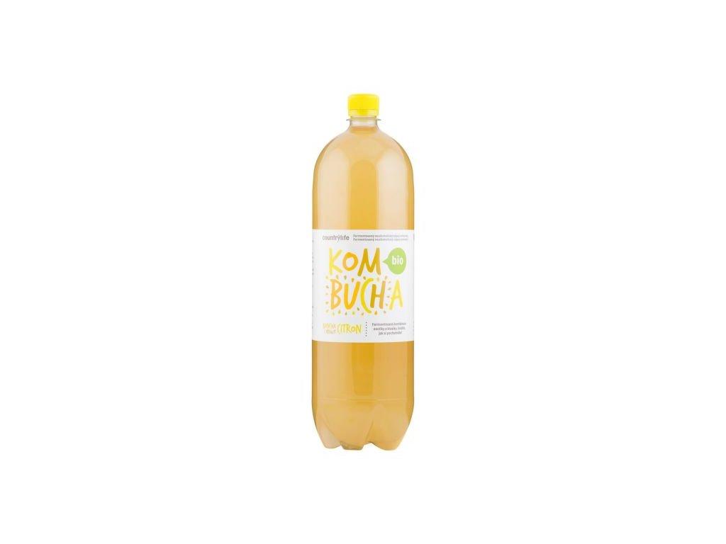 COUNTRY LIFE Kombucha bancha s příchutí citron BIO 2 l