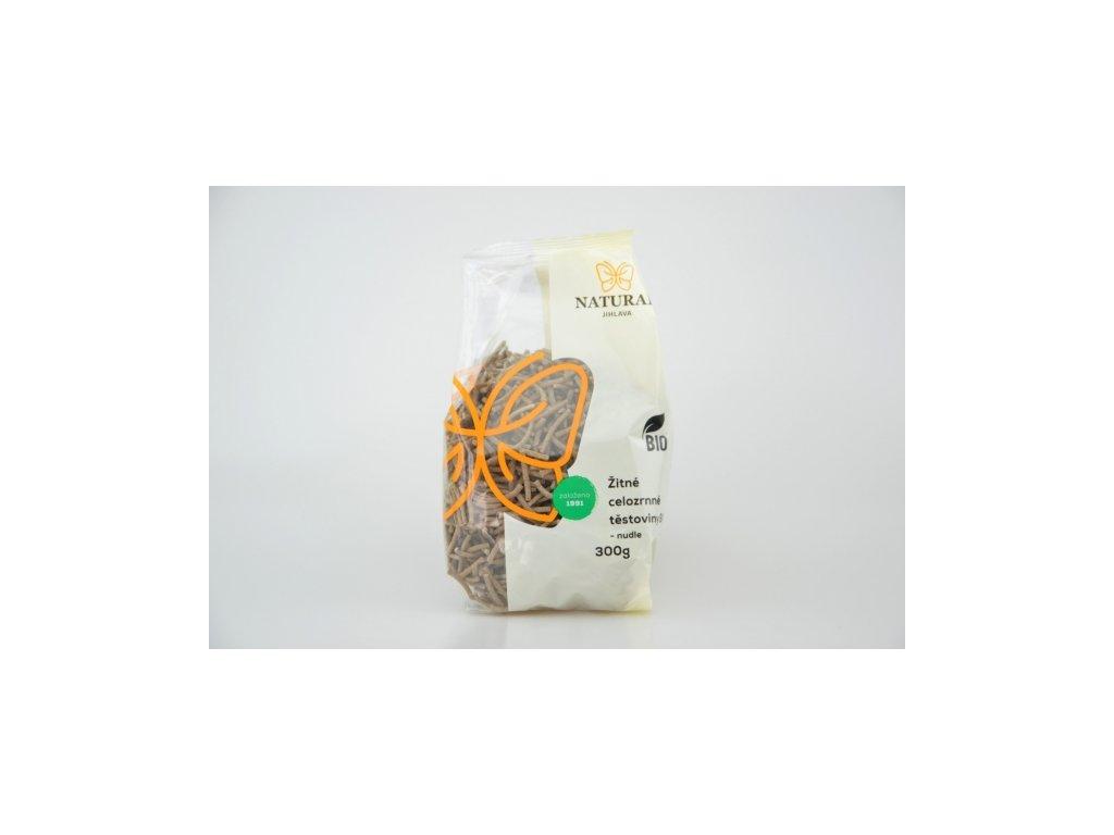 Těstoviny žitné celozrnné BIO nudle Natural 300g
