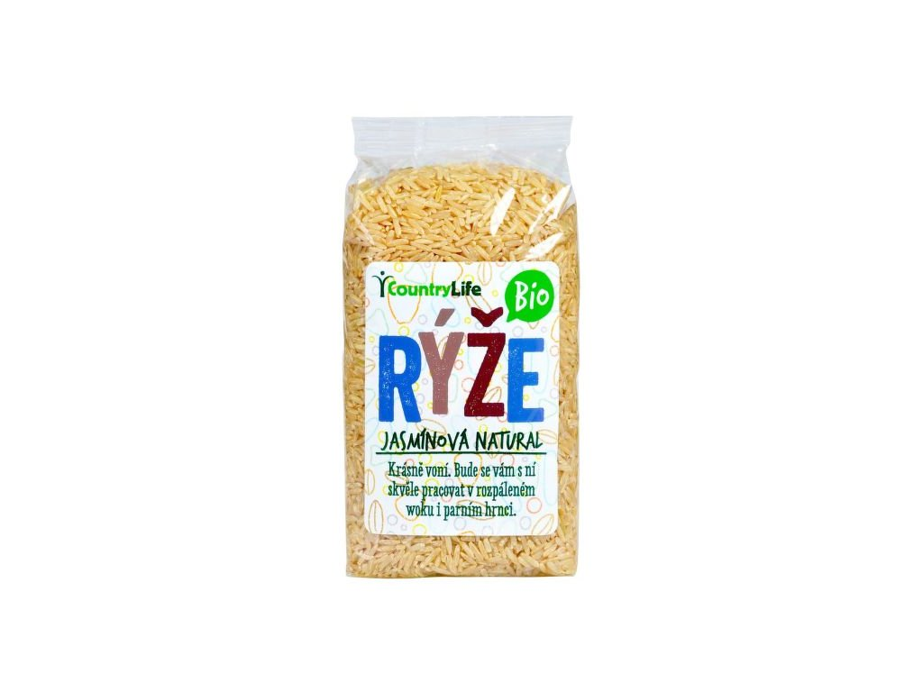 COUNTRY LIFE Rýže jasmínová natural BIO 500 g