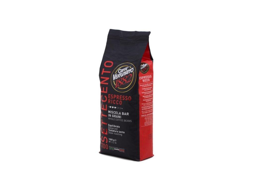Vergnano Espresso Ricco 700 zrnková káva 1kg