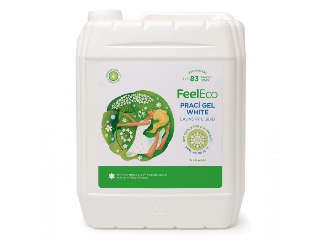 FEEL ECO prací gel WHITE 5 l