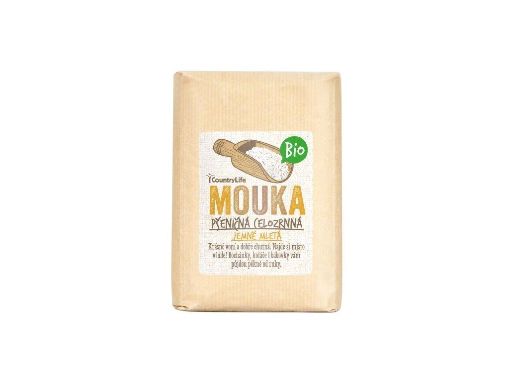 COUNTRY LIFE Mouka pšeničná celozrnná jemně mletá BIO 1 kg