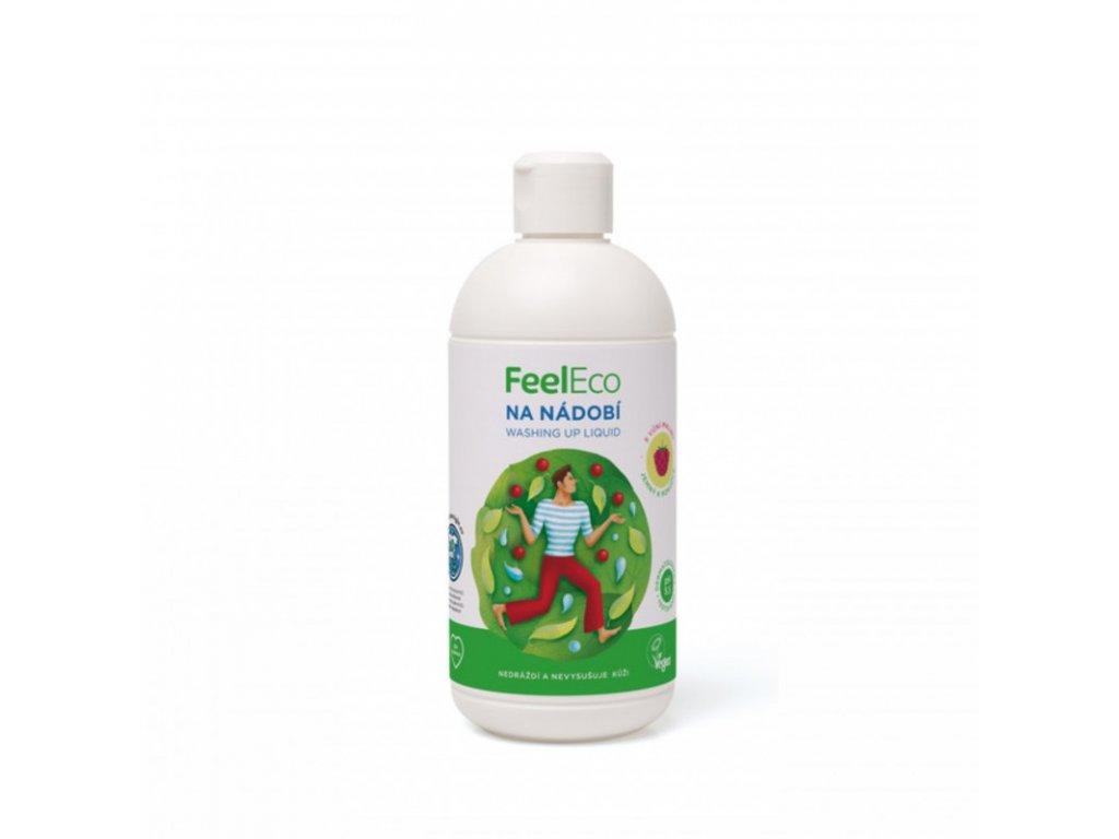 prostredek na nadobi malina feel eco 500 ml