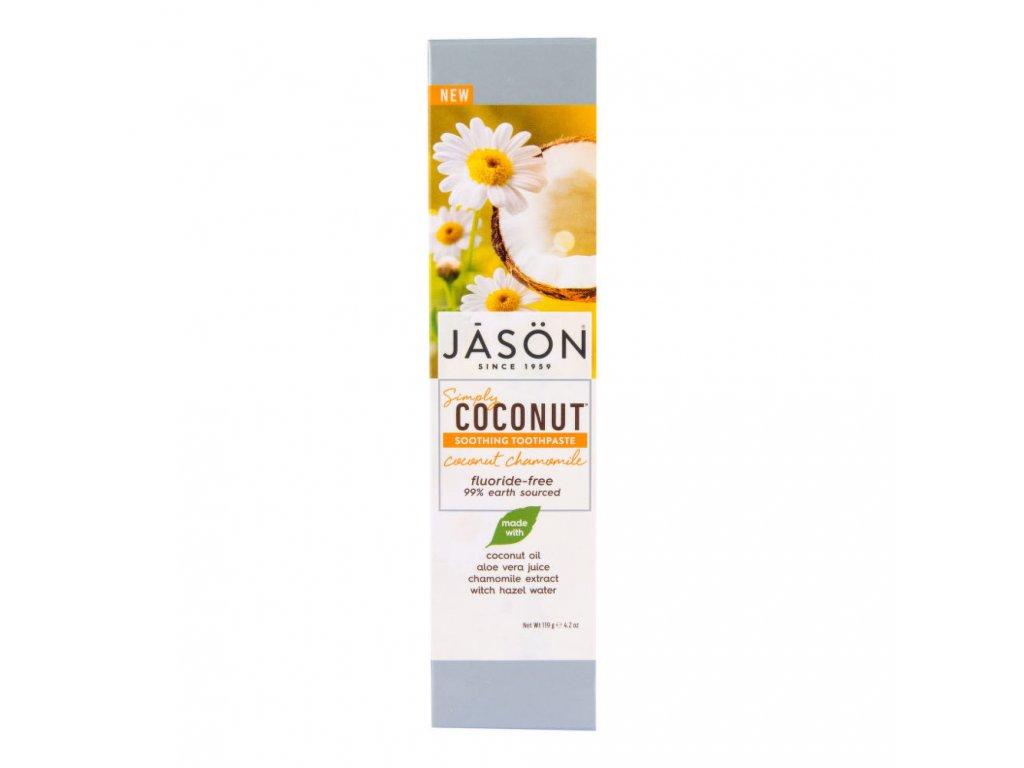 JASON Zubní pasta simply coconut zklidňující s heřmánkem 119 g a