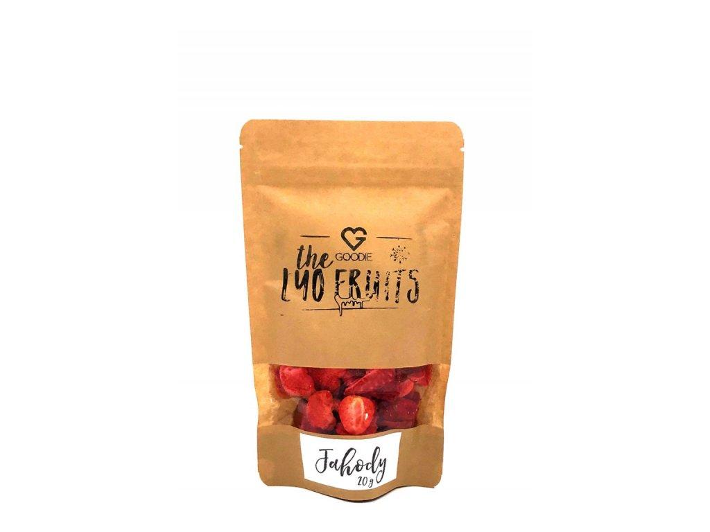 GOODIE Lyofilizované jahody 20 g