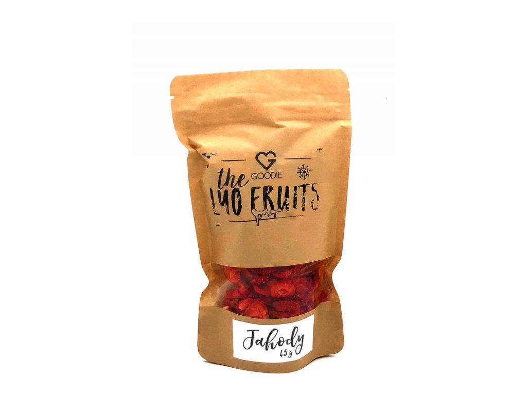 GOODIE Lyofilizované jahody 45 g