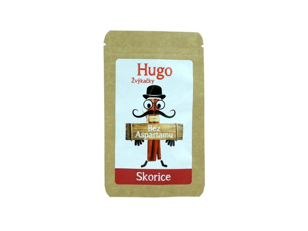 Hugo Žvýkačky Skořice bez aspartamu 9 g