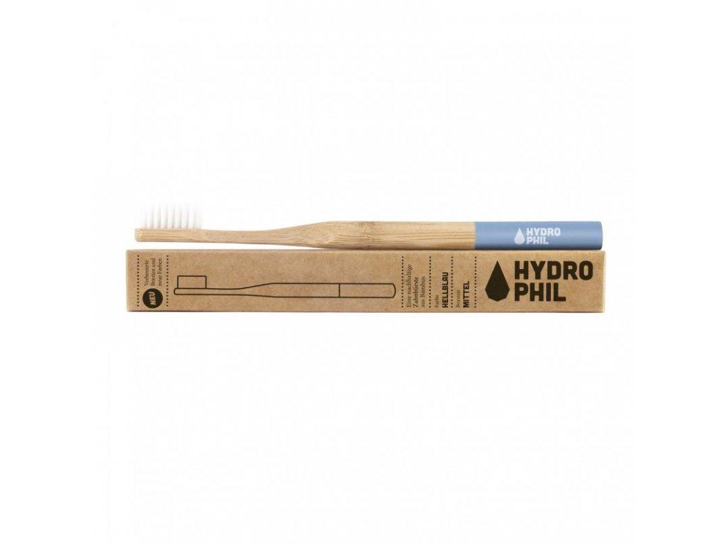 Hydrophil Bambusový kartáček medium modrý 100% z obnovitelných zdrojů