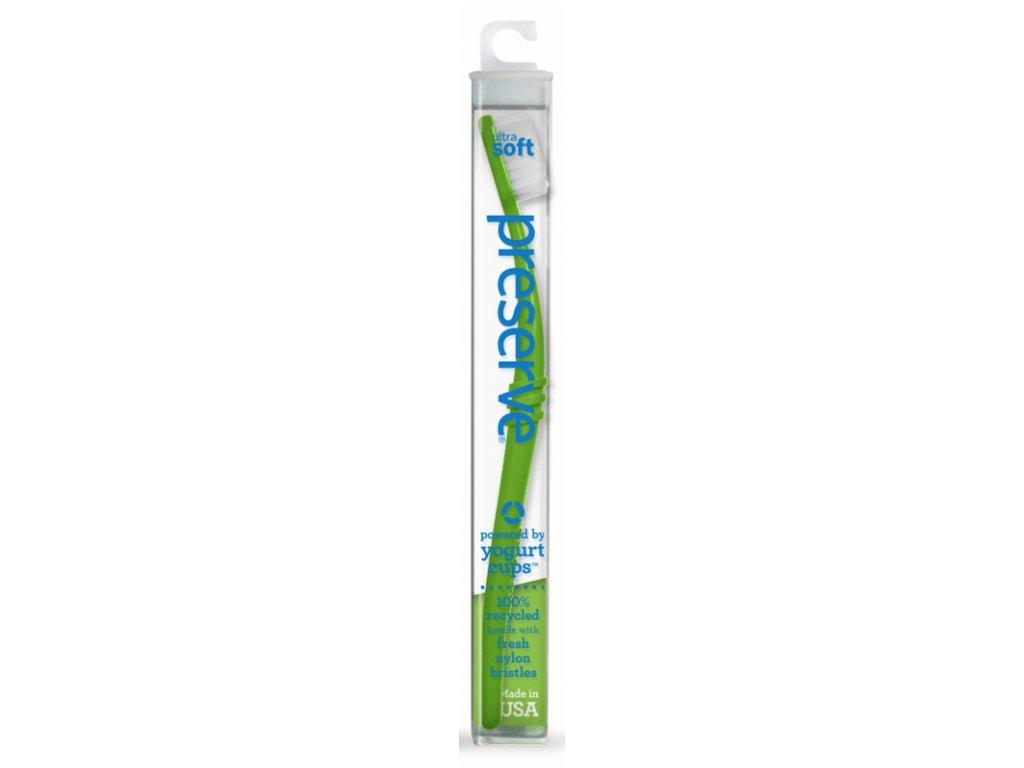Preserve Zubní kartáček soft - zelený