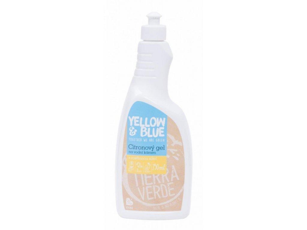 Yellow & Blue Citronový gelový čistič na vodní kámen 750 ml