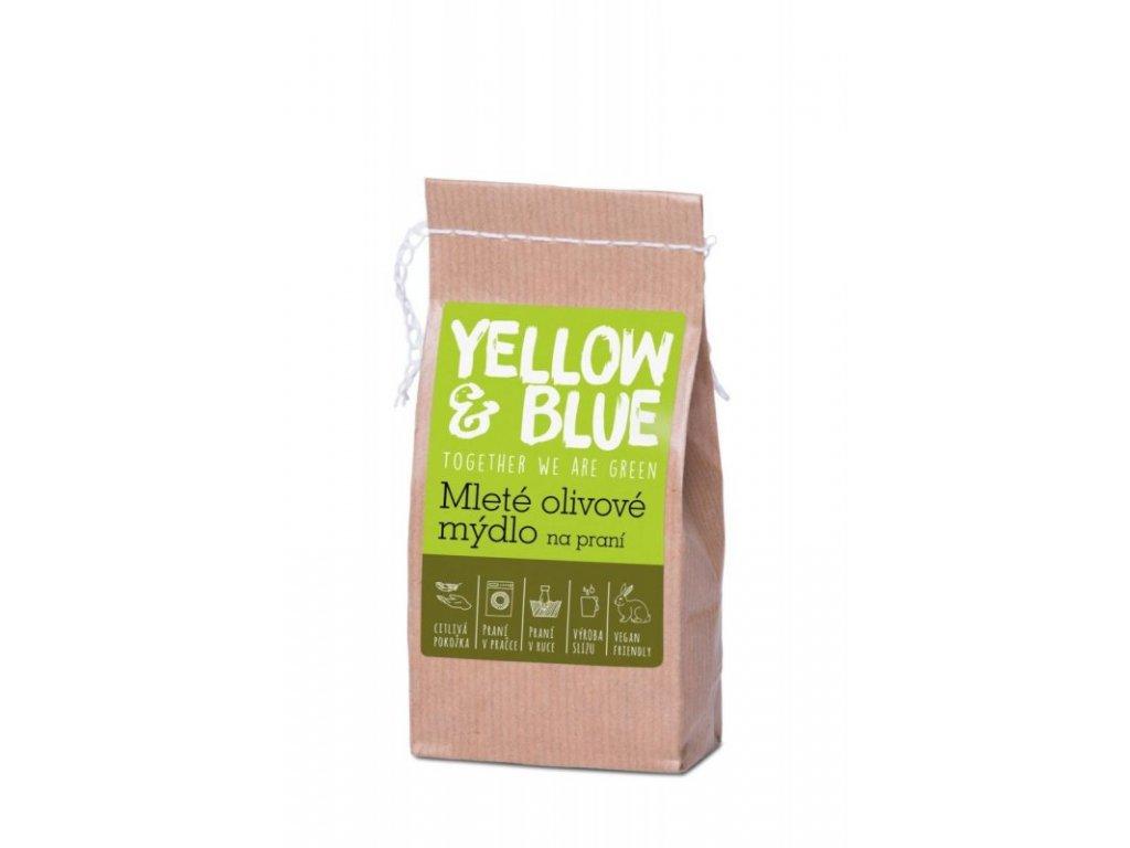 Yellow & Blue Mleté olivové mýdlo na praní 200 g