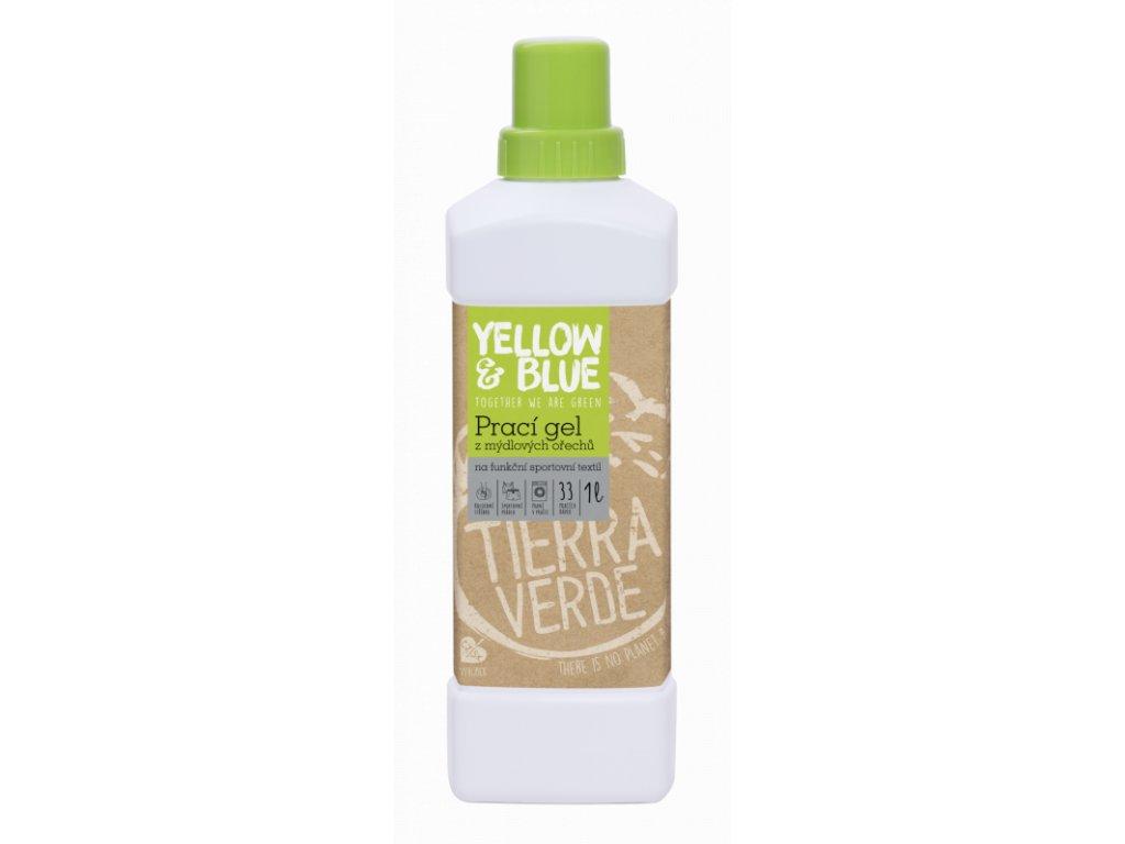 Yellow & Blue Prací gel z mýdlových ořechů na funkční prádlo s koloidním stříbrem 1 l
