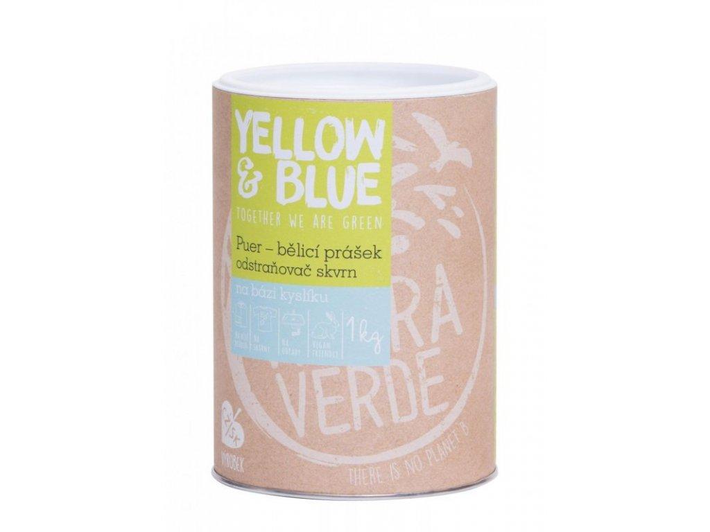 Yellow & Blue Puer bělící prášek pro praní 1 kg dóza