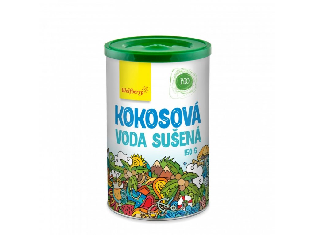kokosova voda bio v prasku 150 g wolfberry