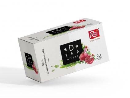 Rej Čaj D tea White bílý čaj echinacea granátové jablko 30 g