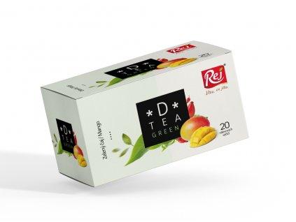 Rej Čaj D tea Green zelený čaj mango 20 x 1.75 g