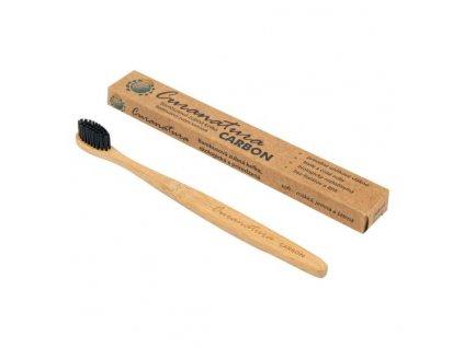 Kartáček zubní bambusový CARBON CURANATURA