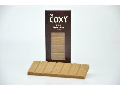 ČOXY bílá čokoláda s kávou a xylitolem Natural 50g