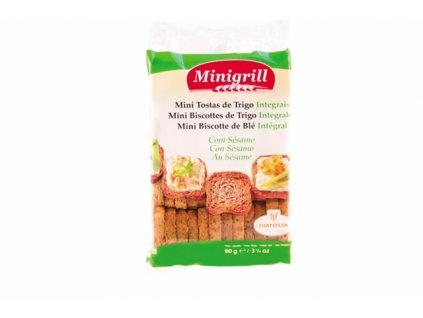 Pšeničné celozrnné suchary Minigrill 90g
