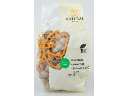 Natural Jihlava Těstoviny pšeničné celozrnné BIO mušle 300g