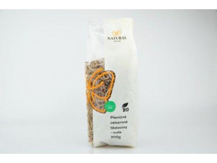 Těstoviny pšeničné celozrnné BIO nudle NAtural 300g