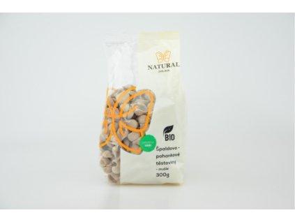 Těstoviny špaldovo pohankové BIO mušle Natural 300g