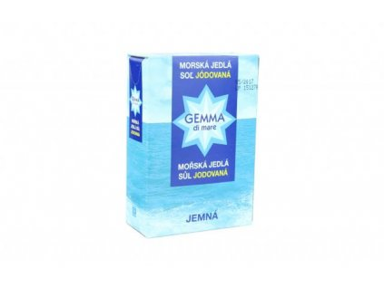 Sůl mořská jedlá jodovaná Gemma di mare 1000g