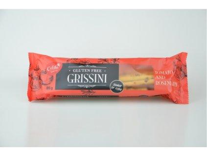 Grissini rajče a rozmarýn trvanlivé tyčinky bez lepku 85g