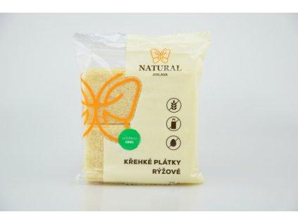 Křehké plátky rýžové Natural 75g