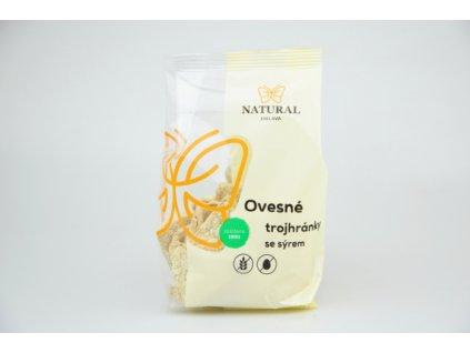 Ovesné trojhránky se sýrem bez lepku Natural 50g