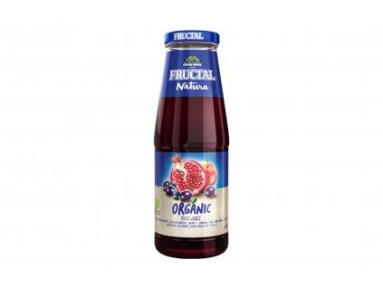 BIO ovocná šťáva z jablek, granátových jablek, černého rybízu a hroznů Fructal 700ml