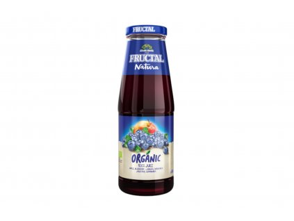 FRUCTAL 100% šťáva Jablka a borůvky BIO 700 ml