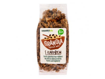 Granola Křupavé müsli s karobem 350 g BIO COUNTRY LIFE