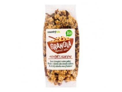 Granola Křupavé müsli ovocné s klikvou 350 g BIO COUNTRY LIFE