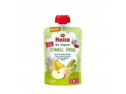 Ovocné pyré hruška, jablko, fenykl BIO pro děti 100 g Holle