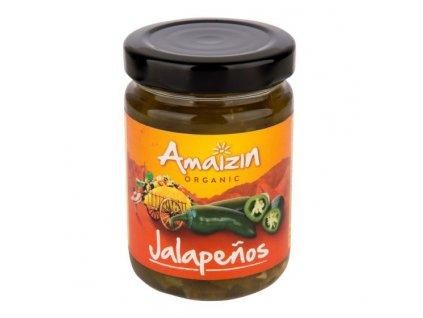 Papričky Jalapenos sterilované 150 g BIO AMAIZIN