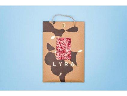 Čokoláda LYRA PREMIUM A4 white s posypem 300g