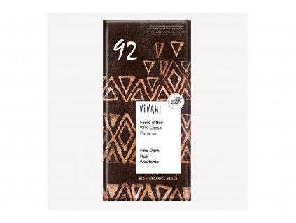 Čokoláda hořká 92% BIO vegan 80g Vivani