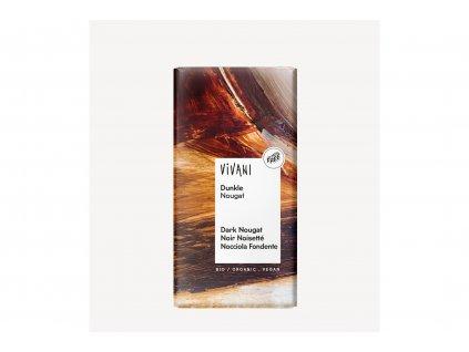 Čokoláda hořká NUGÁTOVÁ BIO vegan 100g Vivani