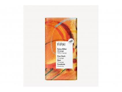 Čokoláda hořká s POMERANČOVÝM olejem BIO vegan 100g Vivani