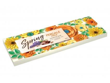 Pergale Mléčná čokoláda s levandulí a lněnými semínky 220g