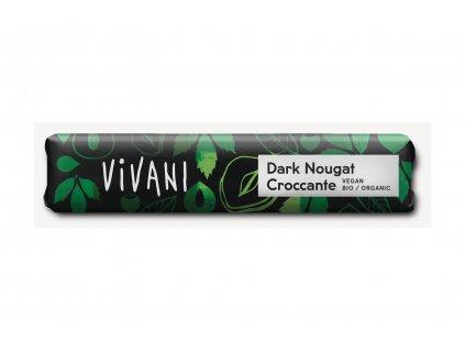 VIVANI Čokoláda hořká NUGÁTOVÁ BIO vegan 30g