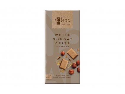 iChoc BIO vegan rýžová čokoláda BÍLÁ NUGÁTOVÁ 80g