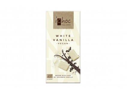 iChoc BIO vegan rýžová čokoláda bílá VANILKOVÁ 80g