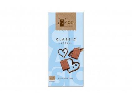 iChoc BIO vegan rýžová čokoláda CLASSIC 80g