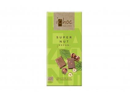 iChoc BIO vegan rýžová čokoláda LÍSKOVÉ OŘECHY 80g