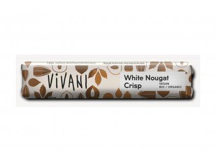 VIVANI okoláda rýžová bílá NUGÁTOVÁ BIO vegan 35g