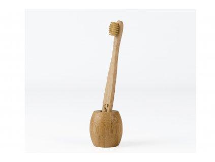 CURANATURA bambusový stojánek na zubní kartáček malý